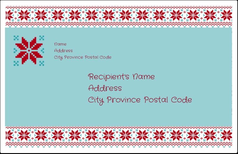 "5½"" x 8½"" Shipping Label - Poinsettia Sweater"