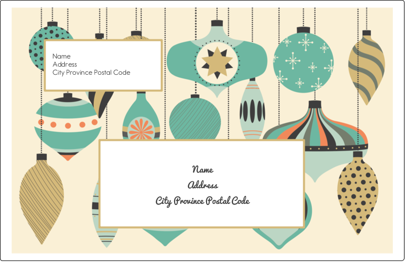 "5½"" x 8½"" Shipping Label - Ornament Pattern"