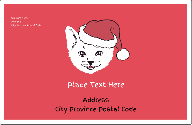 "5½"" x 8½"" Shipping Label - Catmas Meowy"