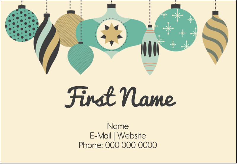 "3⅜"" x 2⅓"" Name Badge - Ornament Pattern"