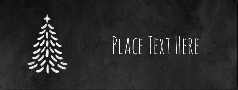 "½"" x 1¾"" Address Label - Chalkboard Tree"