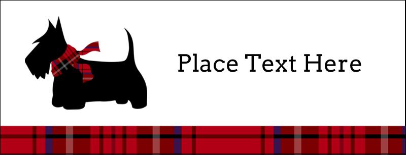 "1-7/16"" x 3¾"" Tent Card - Scottie Dog"
