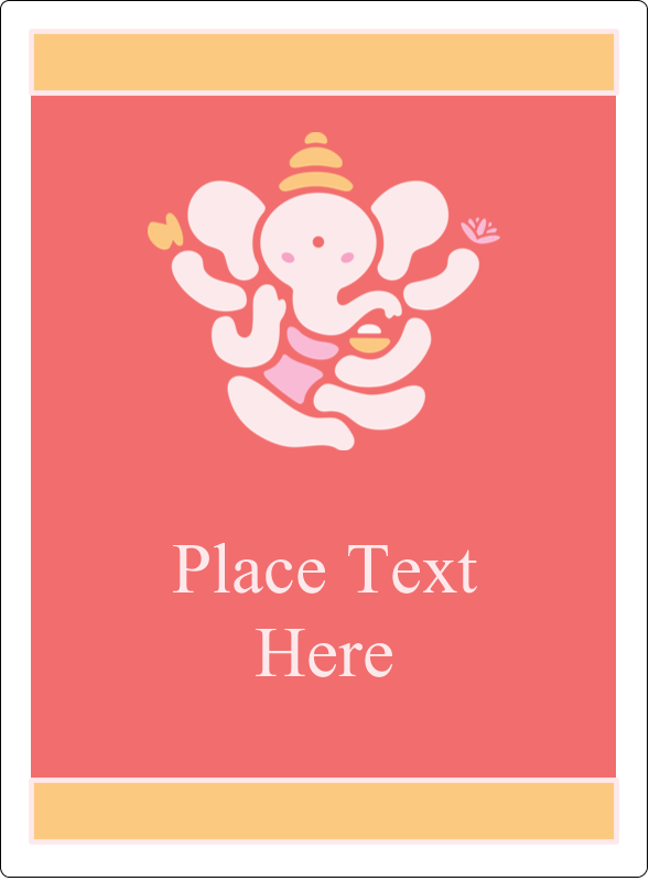 "4¾"" x 3½"" Rectangular Label - Diwali Ganesha"