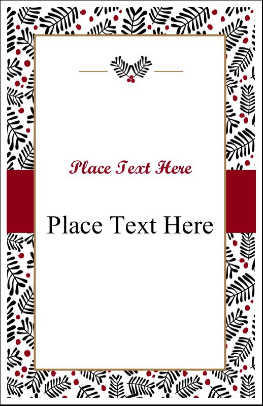 """5"""" x 8½"""" Half Fold Card - Christmas Floral"""