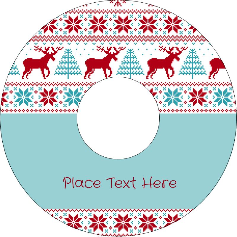 "4.65"" CD-DVD Label - Poinsettia Sweater"