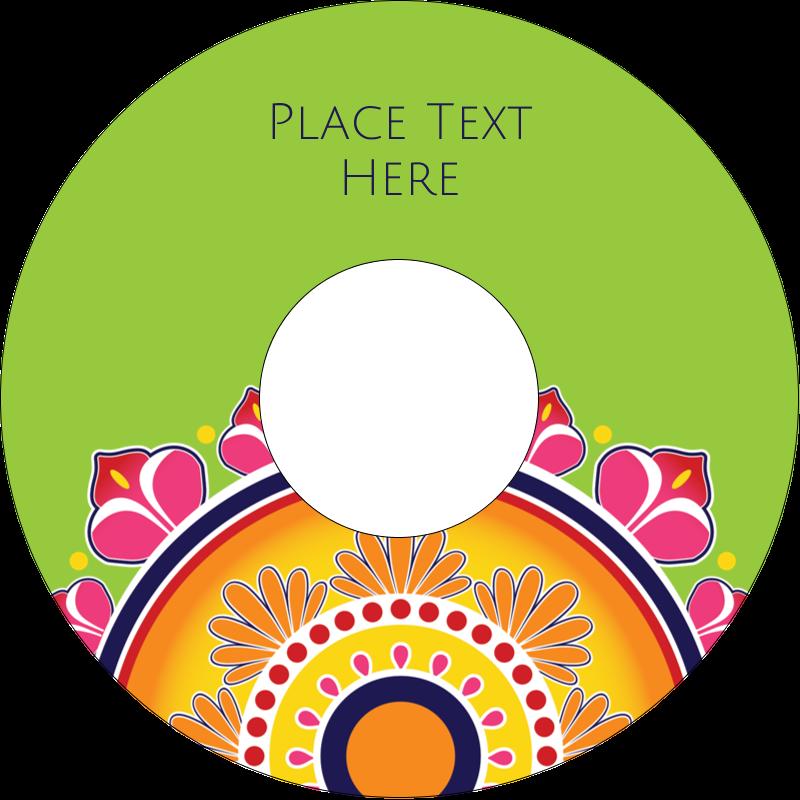 "4.65"" CD-DVD Label - Diwali Rangoli"