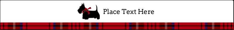 """9¾"""" x 1¼"""" Wraparound Label - Scottie Dog"""