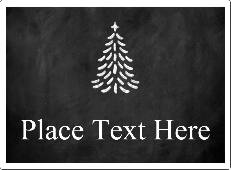 "3½"" x 4¾"" Rectangular Label - Chalkboard Tree"