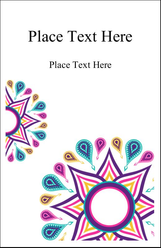 "5"" x 8½"" Half Fold Card - Diwali Ribbon"