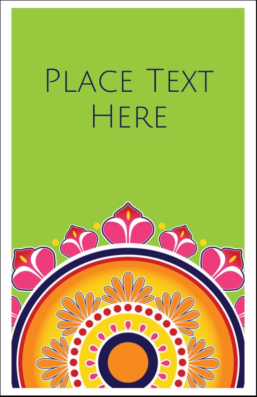 "5"" x 8½"" Half Fold Card - Diwali Rangoli"