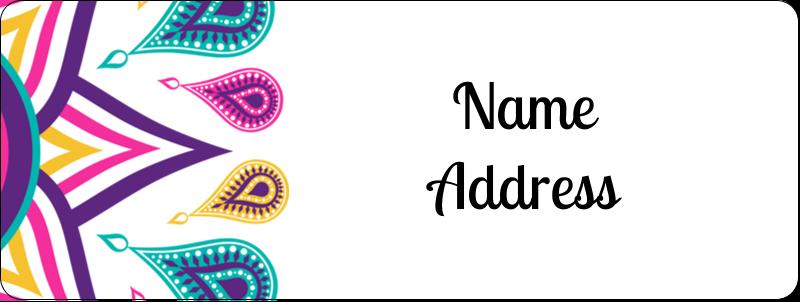 "⅔"" x 1¾"" Address Label - Diwali Ribbon"