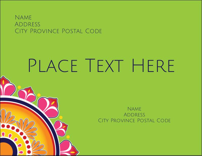 "4¼"" x 5½"" Postcard - Diwali Rangoli"