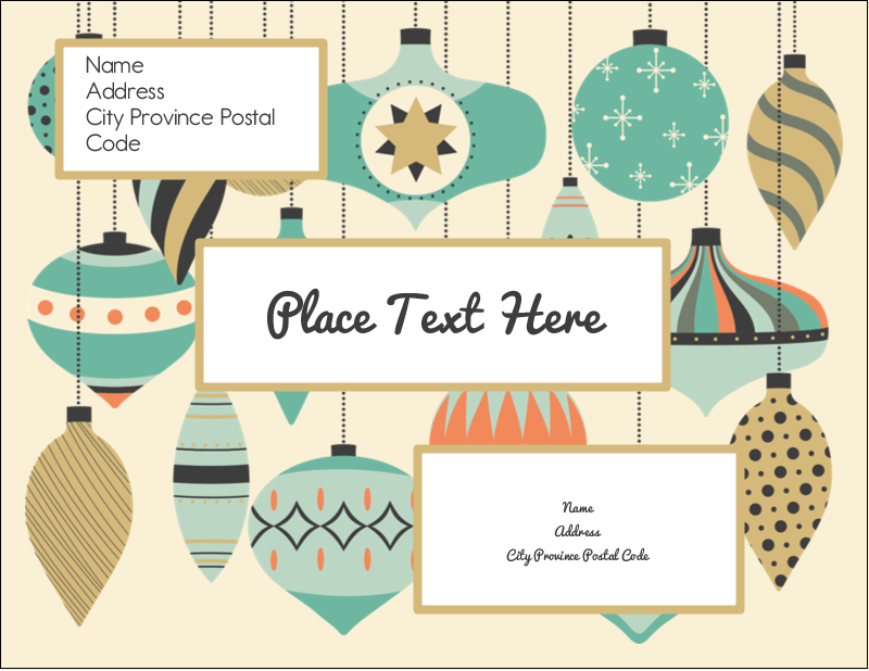 "4¼"" x 5½"" Postcard - Ornament Pattern"