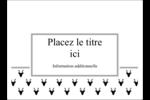 Motif de renne noir et blanc  Étiquettes rectangulaires - gabarit prédéfini. <br/>Utilisez notre logiciel Avery Design & Print Online pour personnaliser facilement la conception.