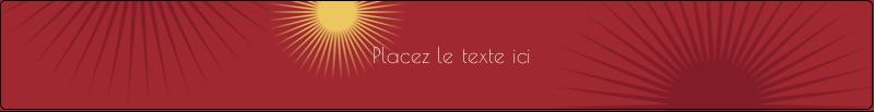 """9¾"""" x 1¼"""" Étiquettes enveloppantes - Soleils du Nouvel An"""