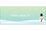 Petit bonhomme de neige Affichette - gabarit prédéfini. <br/>Utilisez notre logiciel Avery Design & Print Online pour personnaliser facilement la conception.