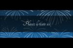 Feux d'artifice bleus du Nouvel An Affichette - gabarit prédéfini. <br/>Utilisez notre logiciel Avery Design & Print Online pour personnaliser facilement la conception.