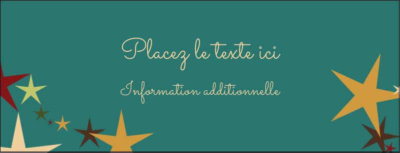 """1-7/16"""" x 3¾"""" Affichette - Étoiles du Nouvel An"""