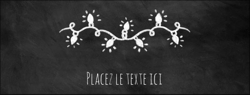 """1-7/16"""" x 3¾"""" Affichette - Lumières sur tableau noir"""