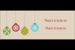 Les gabarits Boules décoratives artisanales pour votre prochain projet des Fêtes Affichette - gabarit prédéfini. <br/>Utilisez notre logiciel Avery Design & Print Online pour personnaliser facilement la conception.
