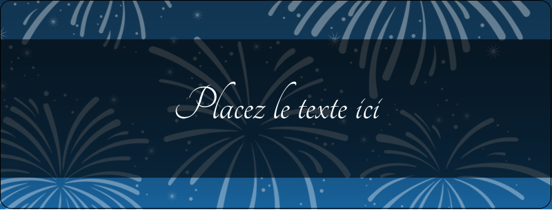 """½"""" x 1¾"""" Étiquettes D'Adresse - Feux d'artifice bleus du Nouvel An"""