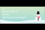 Petit bonhomme de neige Étiquettes D'Adresse - gabarit prédéfini. <br/>Utilisez notre logiciel Avery Design & Print Online pour personnaliser facilement la conception.