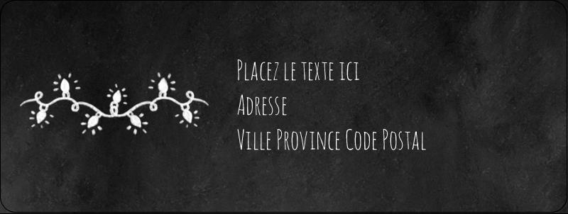 """⅔"""" x 1¾"""" Étiquettes D'Adresse - Lumières sur tableau noir"""