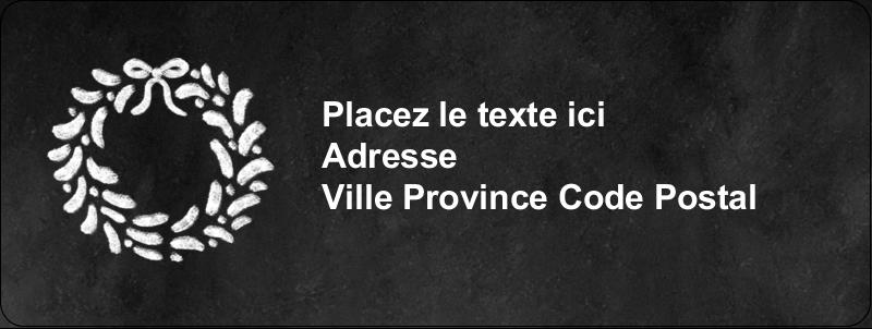 """⅔"""" x 1¾"""" Étiquettes D'Adresse - Guirlande sur tableau noir"""