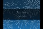 Feux d'artifice bleus du Nouvel An Carte Postale - gabarit prédéfini. <br/>Utilisez notre logiciel Avery Design & Print Online pour personnaliser facilement la conception.