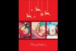 Décor de renne Carte Postale - gabarit prédéfini. <br/>Utilisez notre logiciel Avery Design & Print Online pour personnaliser facilement la conception.
