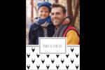 Motif de renne noir et blanc  Carte Postale - gabarit prédéfini. <br/>Utilisez notre logiciel Avery Design & Print Online pour personnaliser facilement la conception.