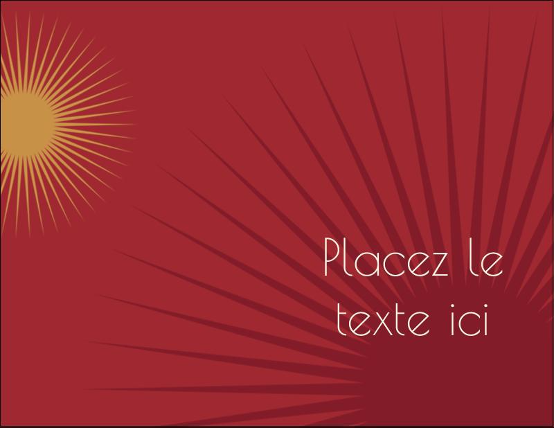 """4¼"""" X 5½"""" Carte Postale - Soleils du Nouvel An"""