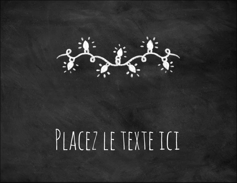 """4¼"""" X 5½"""" Carte Postale - Lumières sur tableau noir"""