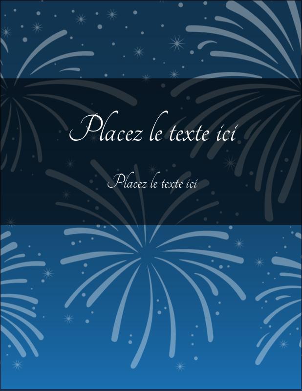 """5½"""" x 4¼"""" Carte Postale - Feux d'artifice bleus du Nouvel An"""