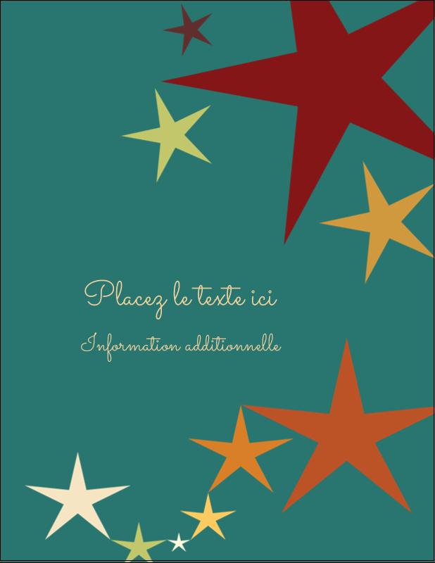 """5½"""" x 4¼"""" Carte Postale - Étoiles du Nouvel An"""