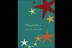 Étoiles du Nouvel An Carte Postale - gabarit prédéfini. <br/>Utilisez notre logiciel Avery Design & Print Online pour personnaliser facilement la conception.