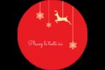 Décor de renne Étiquettes rondes - gabarit prédéfini. <br/>Utilisez notre logiciel Avery Design & Print Online pour personnaliser facilement la conception.
