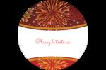 Feux d'artifice rouges du Nouvel An Étiquettes rondes - gabarit prédéfini. <br/>Utilisez notre logiciel Avery Design & Print Online pour personnaliser facilement la conception.