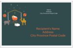 Infuse seasonal charm into projects with pre-designed Nativity Scene Animals templates.