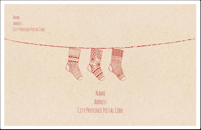 "5½"" x 8½"" Shipping Label - Hanging Stockings"