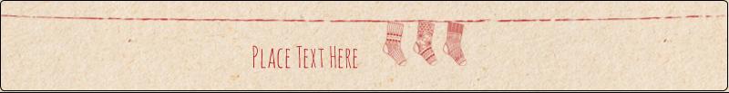 """9¾"""" x 1¼"""" Wraparound Label - Hanging Stockings"""