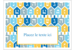 Toupie de Hanoukka Étiquettes rectangulaires - gabarit prédéfini. <br/>Utilisez notre logiciel Avery Design & Print Online pour personnaliser facilement la conception.