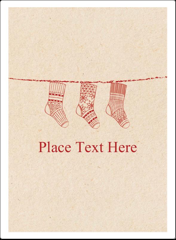 """4¾"""" x 3½"""" Rectangular Label - Hanging Stockings"""