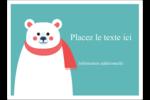 Ours polaire Étiquettes rectangulaires - gabarit prédéfini. <br/>Utilisez notre logiciel Avery Design & Print Online pour personnaliser facilement la conception.