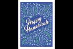 Hanoukka florale Étiquettes rectangulaires - gabarit prédéfini. <br/>Utilisez notre logiciel Avery Design & Print Online pour personnaliser facilement la conception.