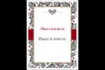 Fleurs de Noël Étiquettes rectangulaires - gabarit prédéfini. <br/>Utilisez notre logiciel Avery Design & Print Online pour personnaliser facilement la conception.