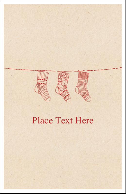 "5"" x 8½"" Half Fold Card - Hanging Stockings"