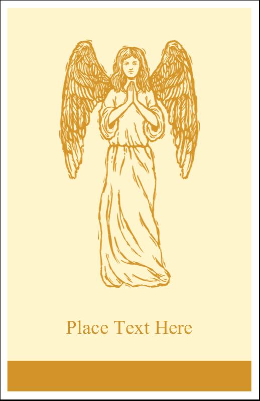 "5"" x 8½"" Half Fold Card - Religious Woodcut"