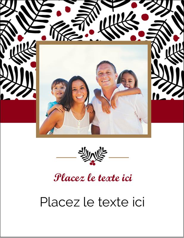 "4¼"" X 5½"" Carte Postale - Fleurs de Noël"