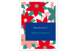 Les gabarits Poinsettia pour votre prochain projet des Fêtes Étiquettes rectangulaires - gabarit prédéfini. <br/>Utilisez notre logiciel Avery Design & Print Online pour personnaliser facilement la conception.